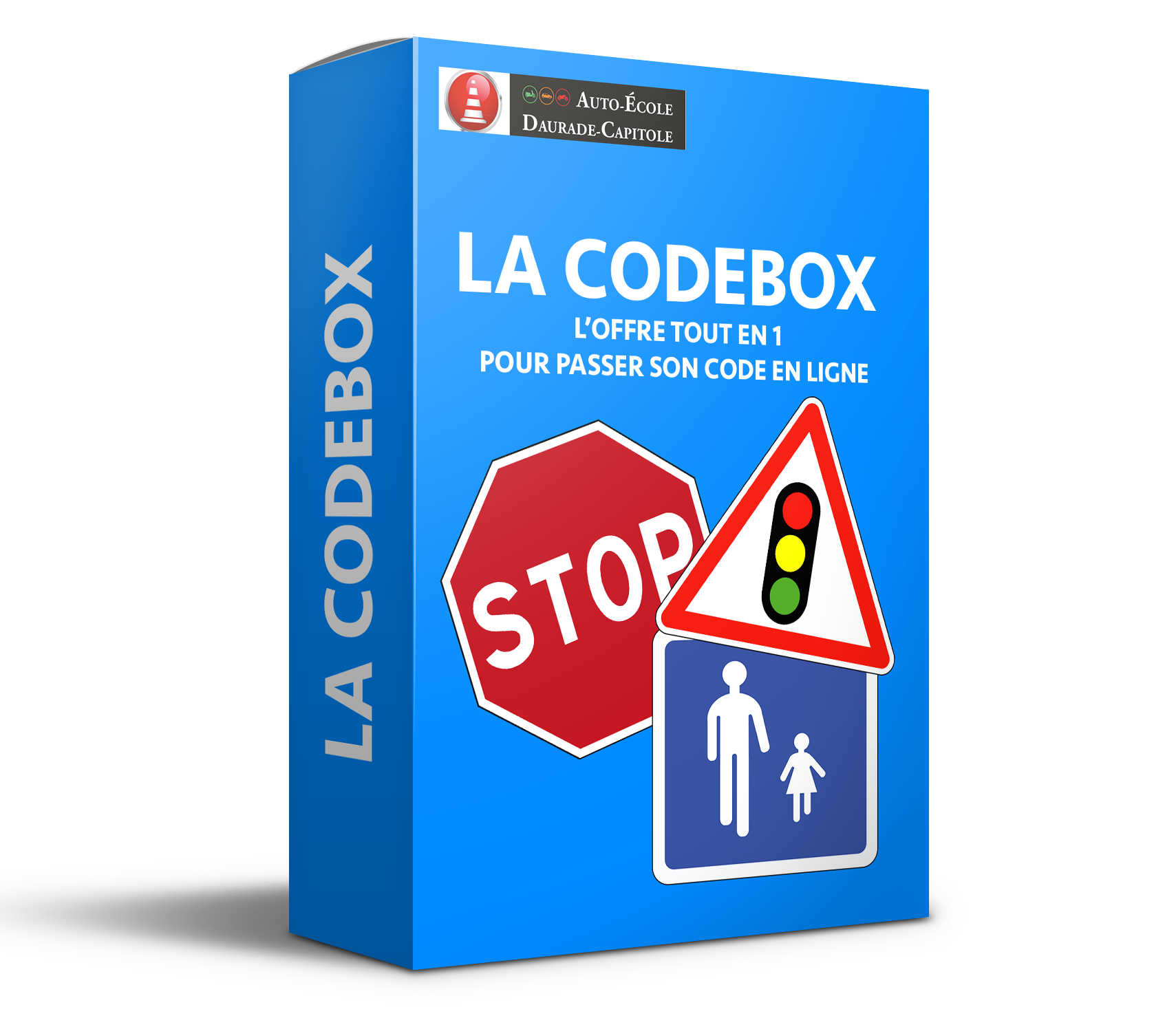 la codebox code de la route en ligne pour 30 00 cours th mes tests auto ecole daurade. Black Bedroom Furniture Sets. Home Design Ideas